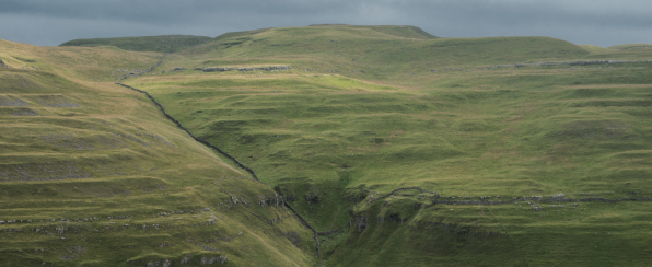 Yew Coggar Scar from above Arncliffe