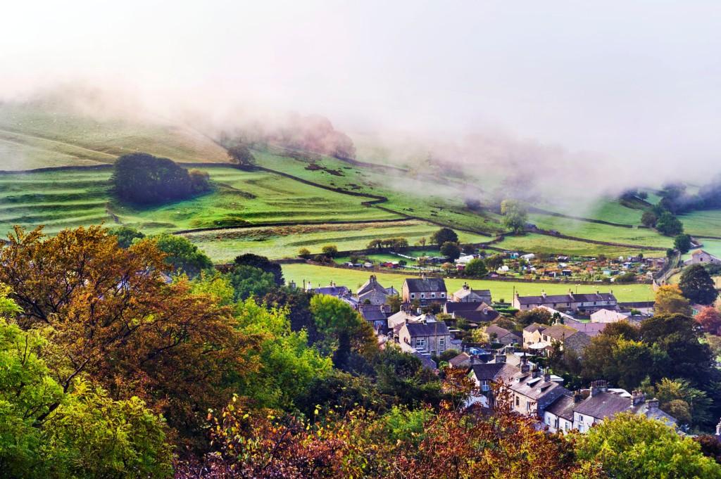 Autumn mist over Settle