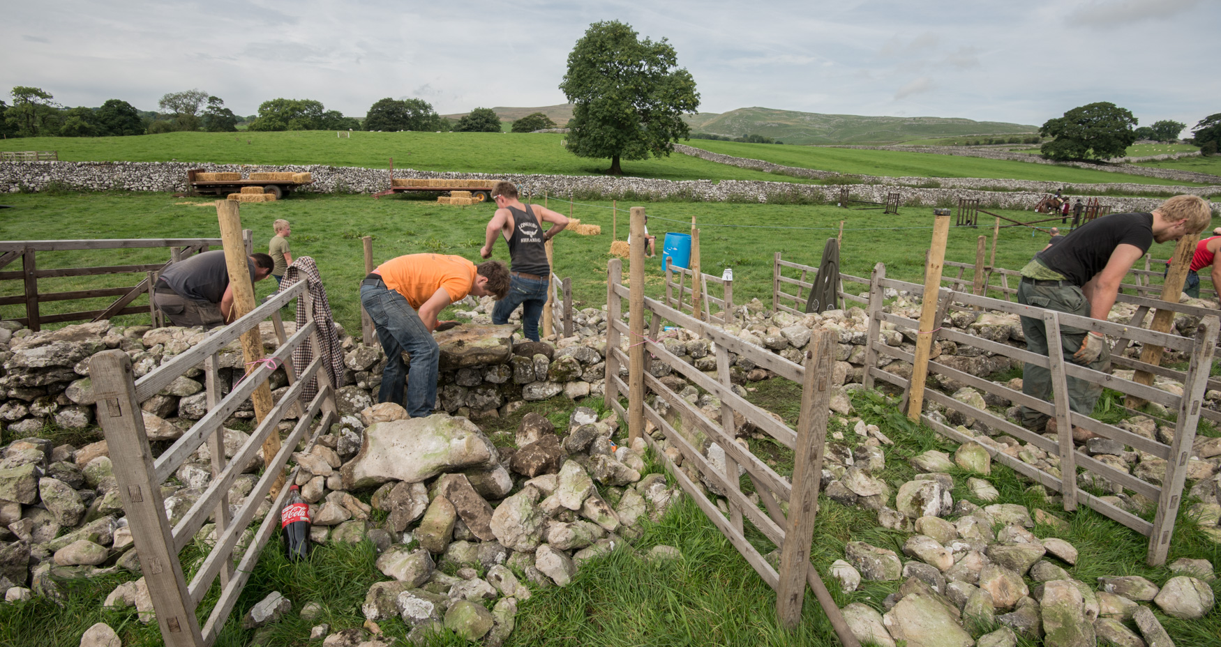 Dry walling competition Malham Show