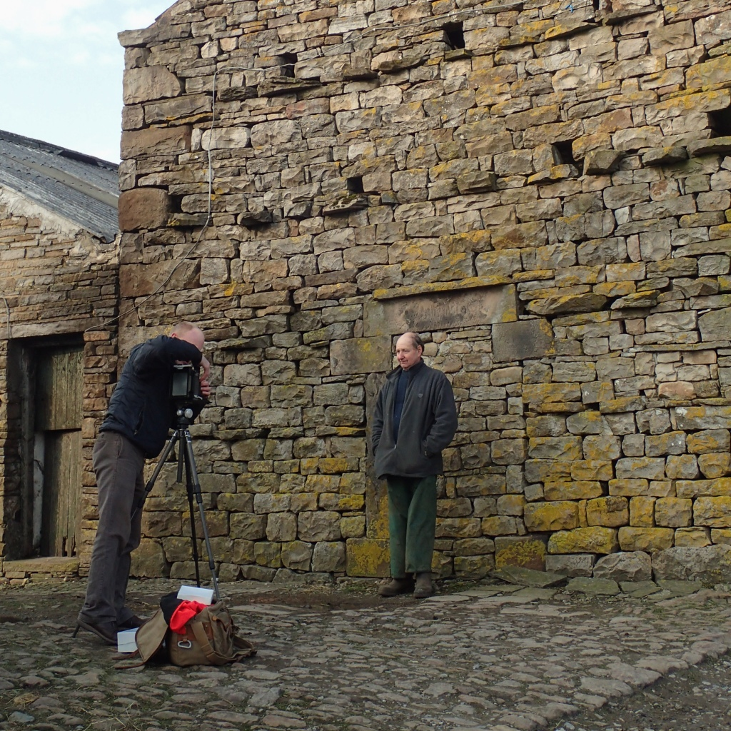 Rob photographing John Fawcett at West Birkrigg Farm, near Hawes