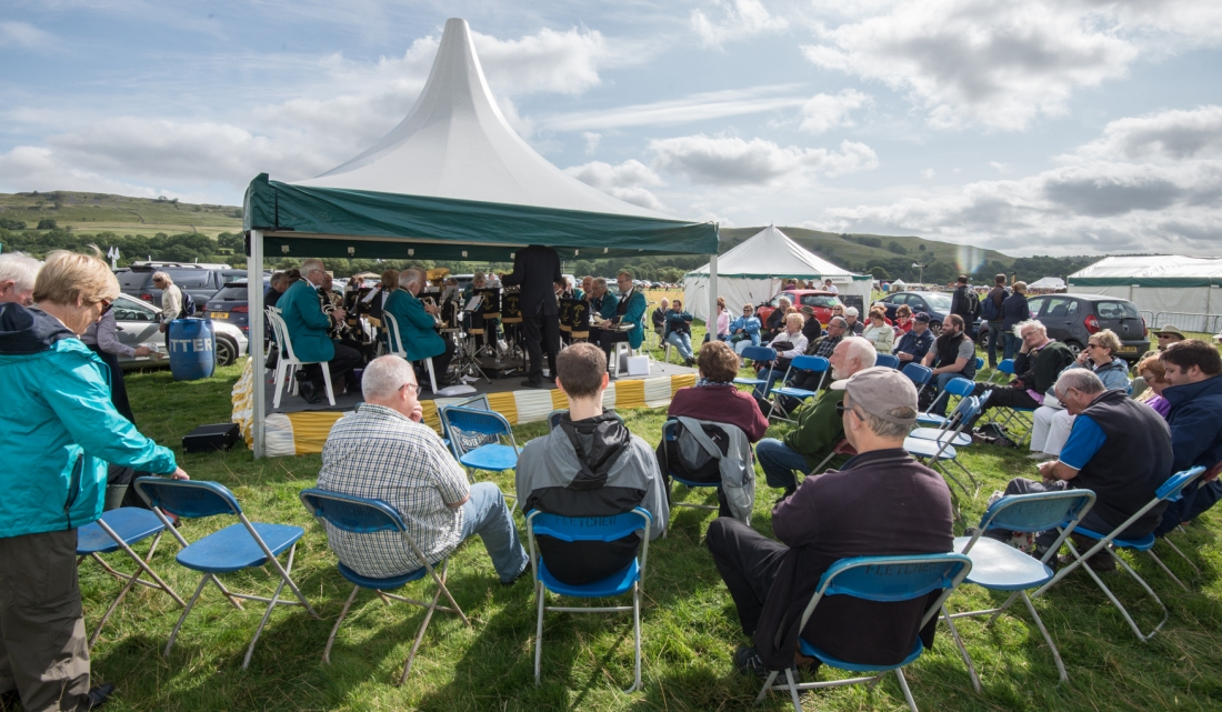 Brass Band at Kilnsey Show