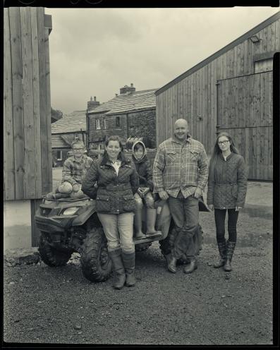 John and Steph Bland and Family, Thwaite Bridge Farm