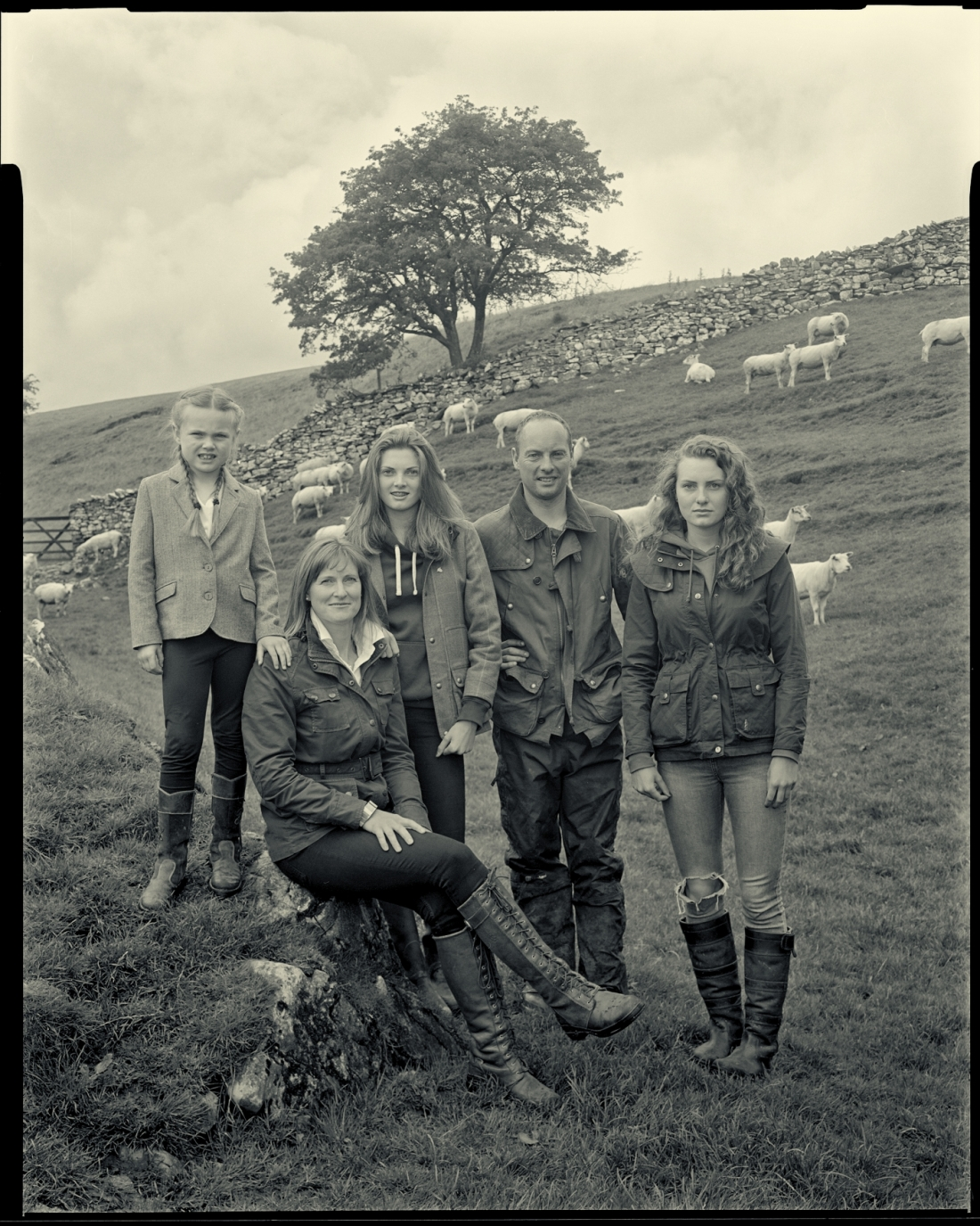 Andrew and Rachel Marston and Family, Easgill Head