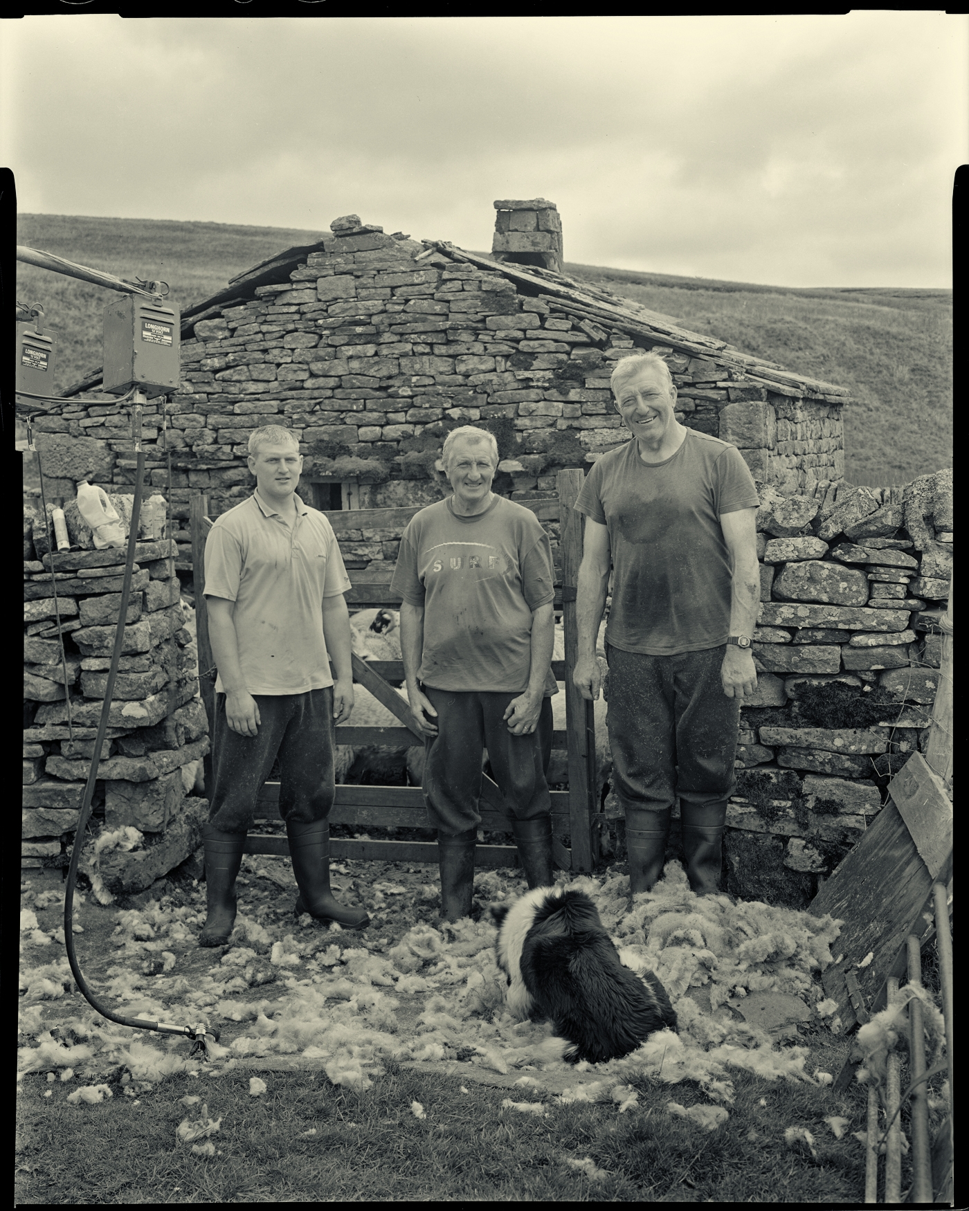 The Calverts shearing in Swaledale Yorkshire