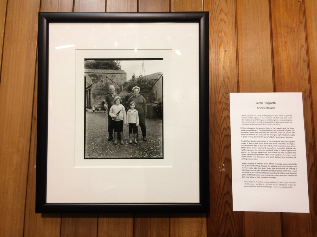 image of Sarah Hoggarth and family for Voices from the Land Exhibition