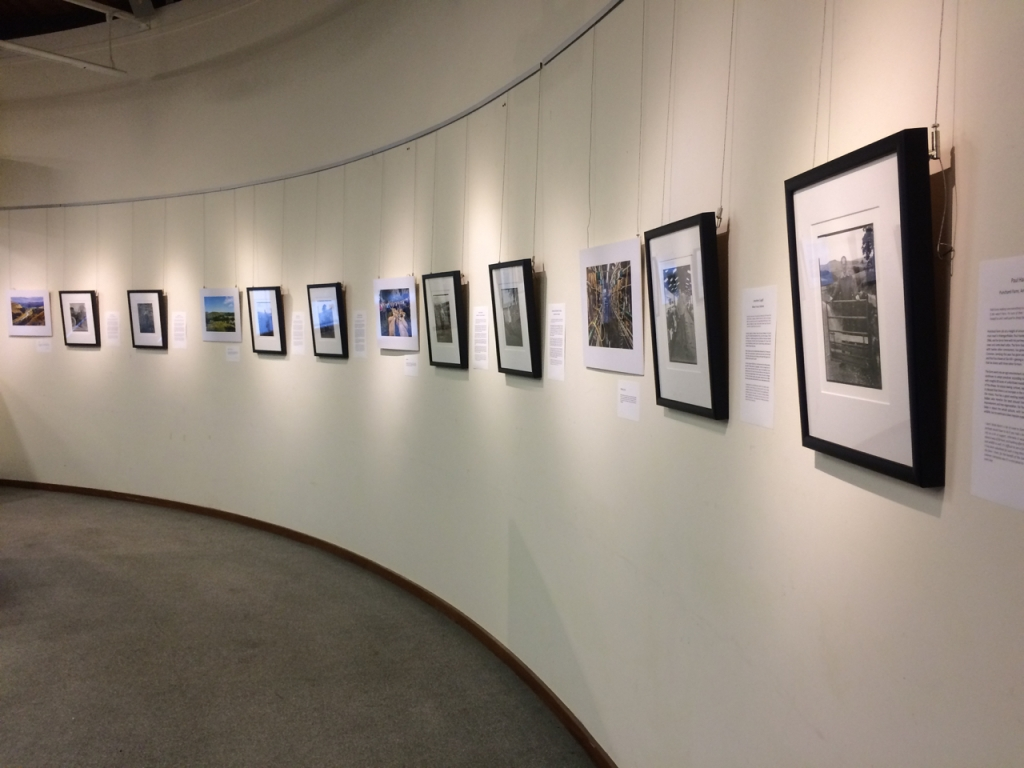 the display of photographs for Voices from the Land exhibition