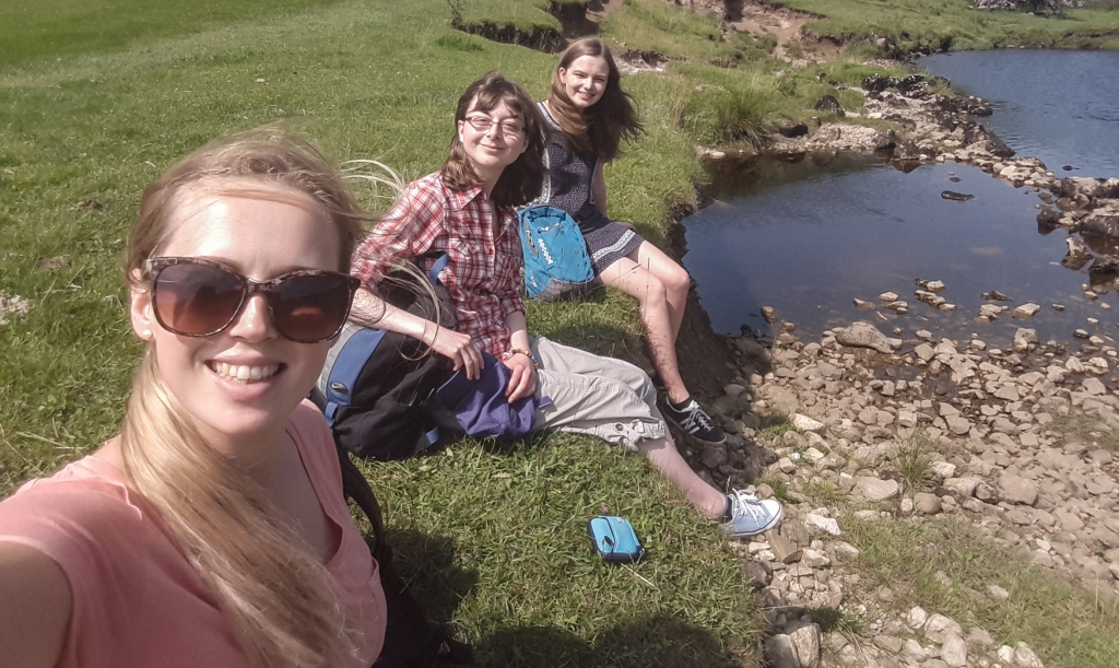 students in the Dales: Lauren, Emily and Holly.